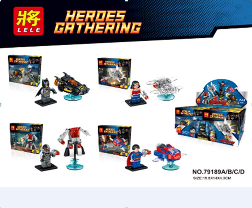 LELE 79189 Building Blocks Super Heroes Avengers Minifigures Batman/ Ultron/ Superman/ Wonder Woman Bricks Toys