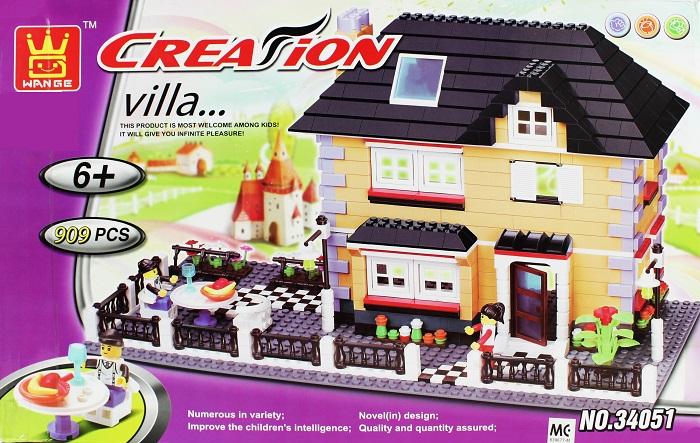 WANGE Building Blocks Toy Villa Series 909Pcs 34051