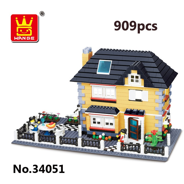 WANGE Building Blocks Toy Villa Series 909Pcs 34051