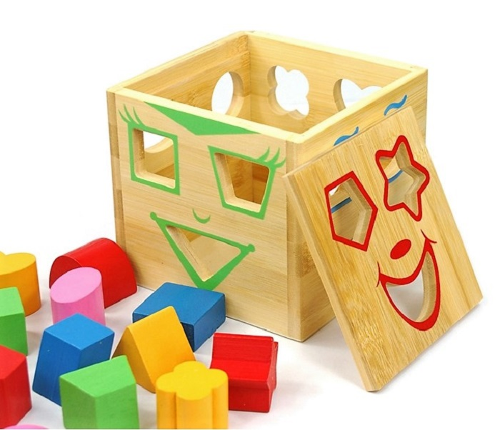Baby Early Learning Education Toys Wooden Building Block Toddler