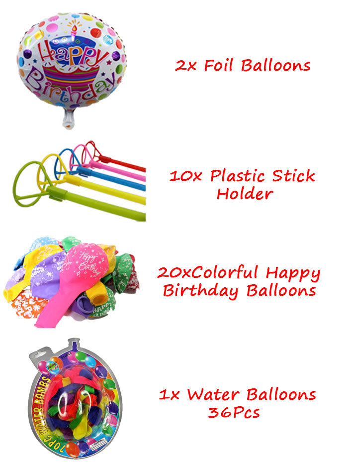 Birthday Party Pack Set for 10 Paxs - Combo A