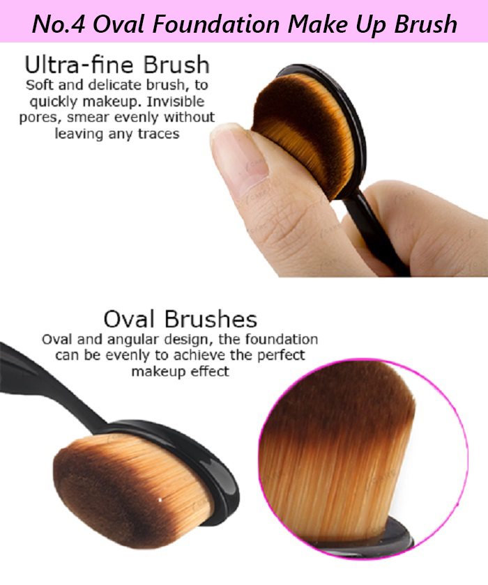 Combo No.4 Oval Foundation Make Up Brush With Any These Make Up Tools Bomb Puffy Foundation Make Up Sponge & Brush, Powder Puff Make Up Sponge