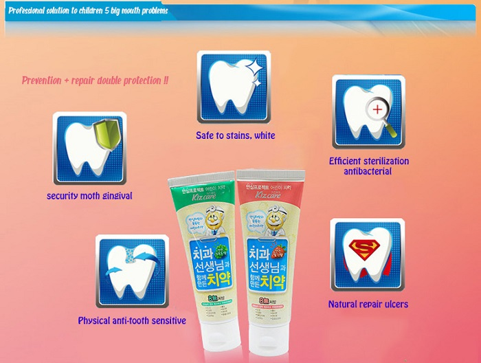 Kizcare 8-None Kids Toothpaste -Strawberry