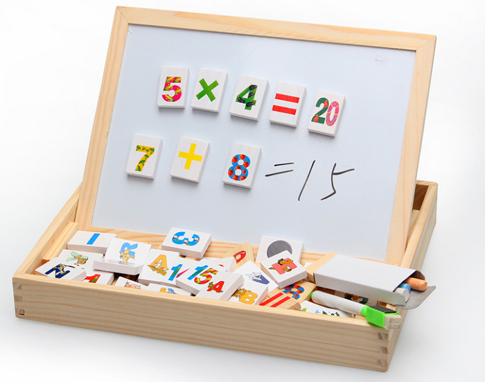 xin lei wood toy dominoes number blocks case magnetic. Black Bedroom Furniture Sets. Home Design Ideas