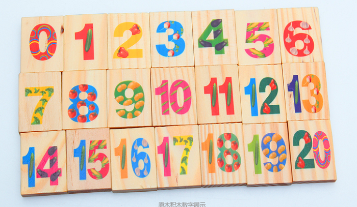 Xin Lei Wood Toy Dominoes Number Blocks Case Magnetic Drawing Board Toy