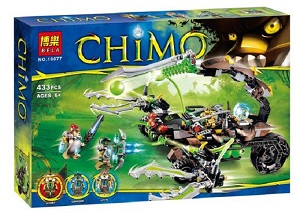 Bela No.10077 Chimo Scorm/ Cragger/ Laval Blocks & Building Toys