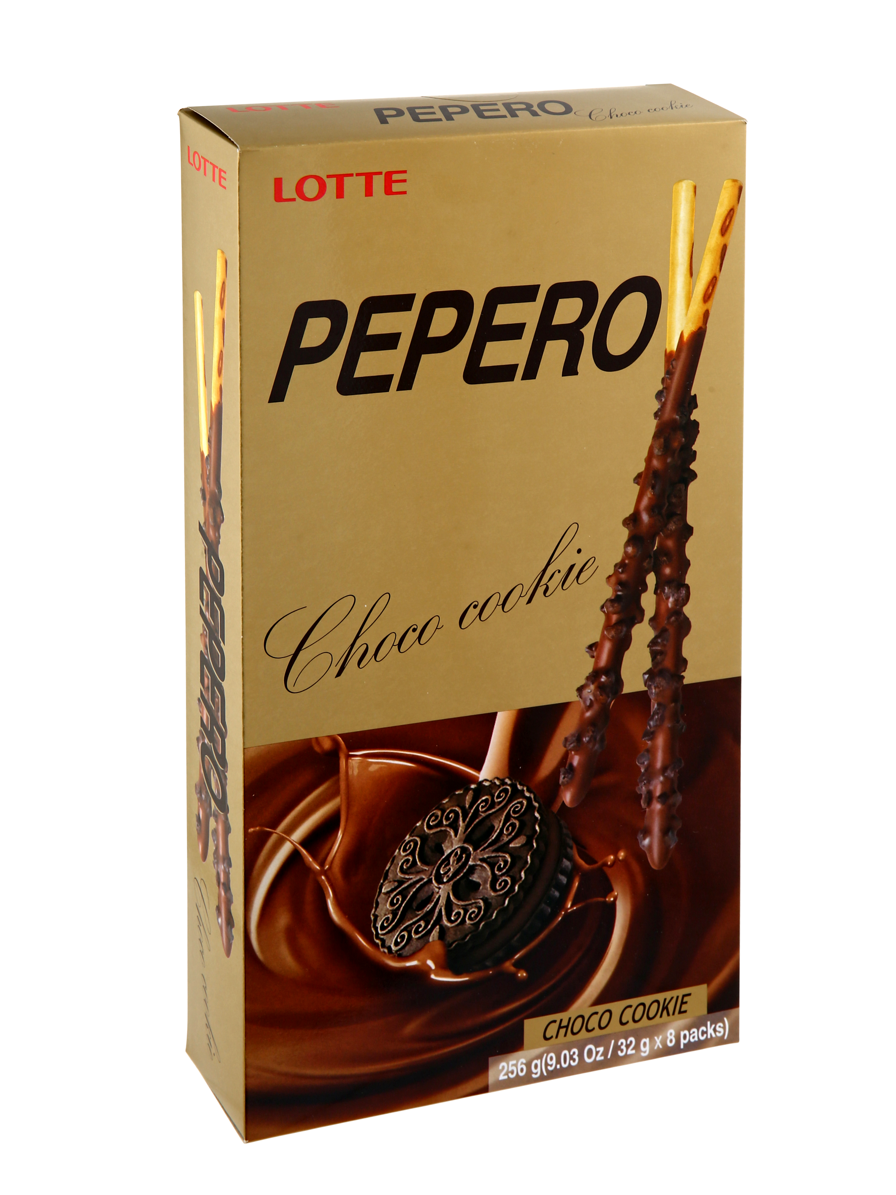 Lotte Pepero Chocolate Cookie 256gm (32g X 8pack)