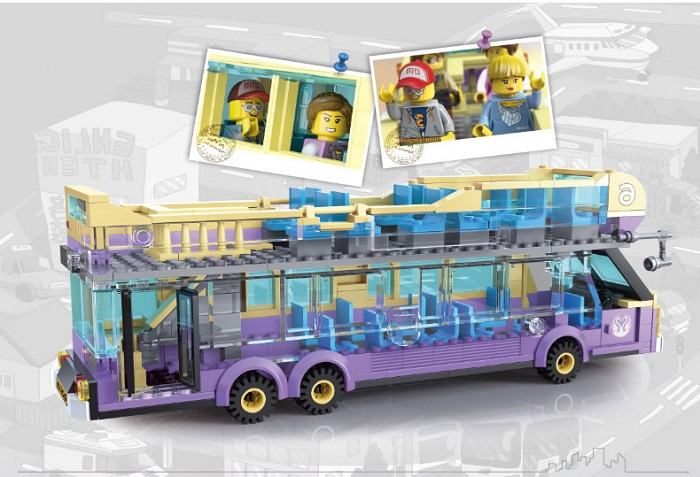 Enlighten City Series Sightseeing Bus Blocks & Building Toys No.1123
